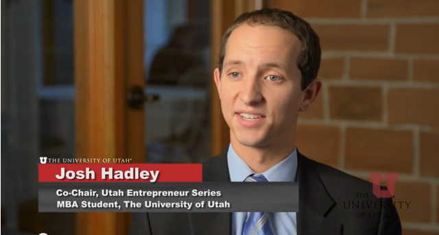 Josh Hadley, MBA student at the U and co-chair of UES.