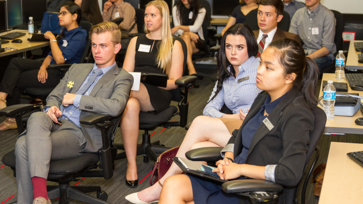 Students learn about starting a business or fleshing out an idea at the SEC at Ebay.