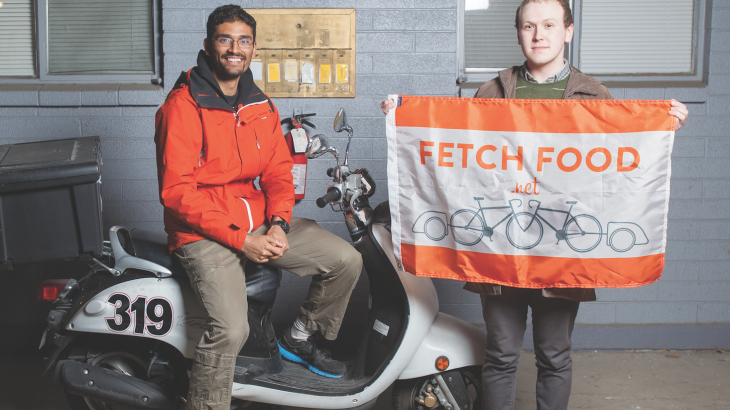 U student startup, Fetch Food, founders and winners of Opportunity Quest 2013.