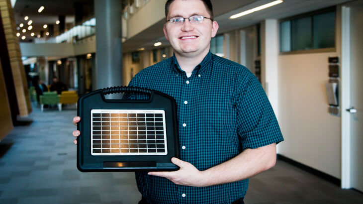 U Student Startup Sense Tech helps farmers water their crops remotely.