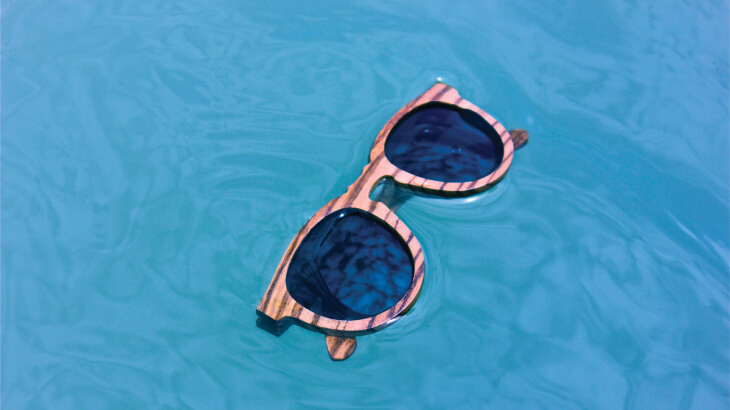 U student startup Aurora Sunglasses makes wooden sunglasses that float.