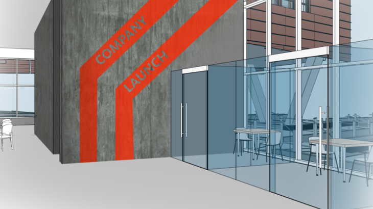 Company launch space in the Lassonde Studios, a student residential and maker facility