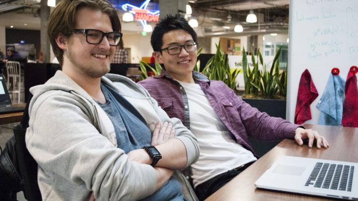Blerp founders Kepler Sticka-Jones and Aaron Hsu