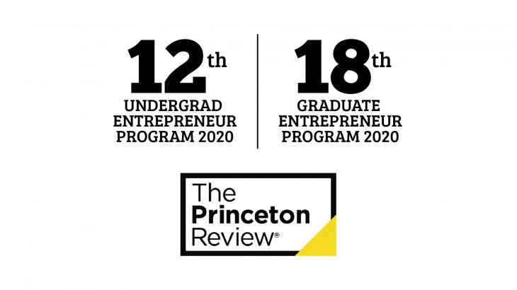 Princeton Review entrepreneurship rankings for 2020