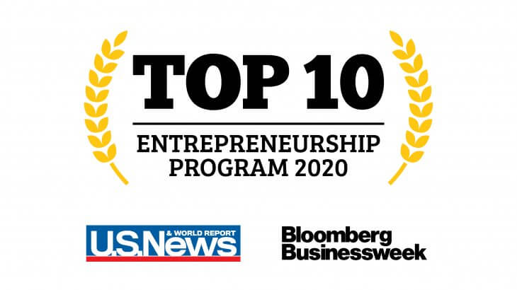 Top 10 ranked university for entrepreneurship
